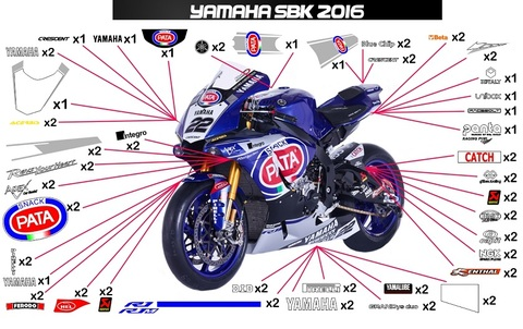 YZF-R1 SBK Pata グラフィックステッカー