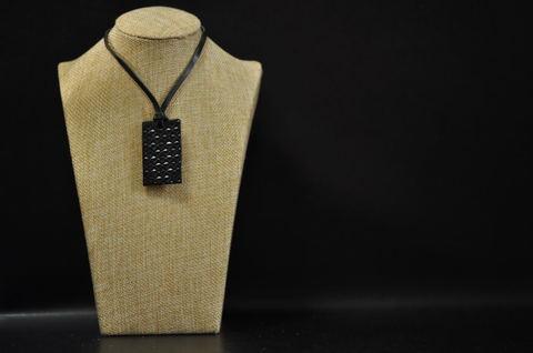 Asanoha(麻の葉文様) Necklace Black