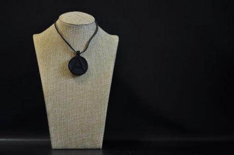 (A) Symbol Necklace Black