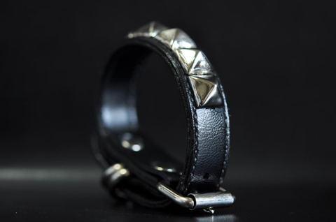 Vegan leather Studs wristband