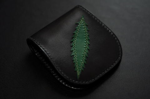 Lightning Leaf Coincase Black