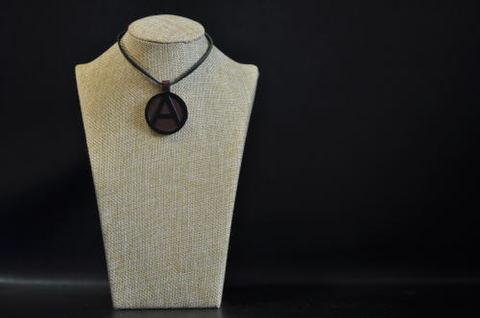 (A) Symbol Necklace Brown