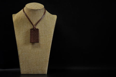 Asanoha(麻の葉文様) Necklace Brown