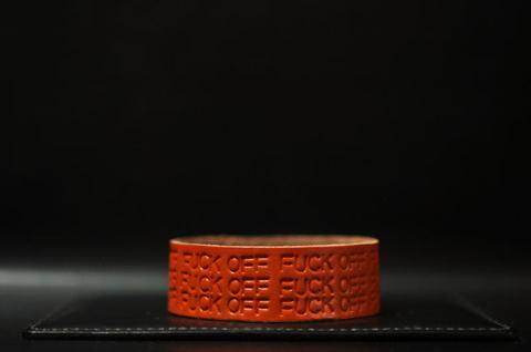 F××K OFF Wristband [Orange]