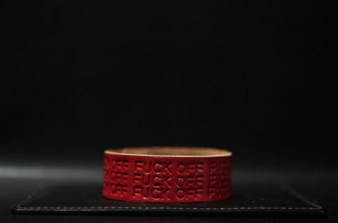F××K OFF Wristband [Cherry]