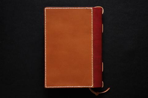 Leather book jacket 文庫本レザーブックカバー