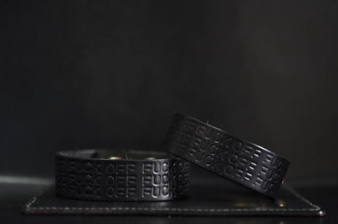 F××K OFF Wristband [Black]