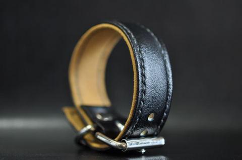 Vegan leather wristband