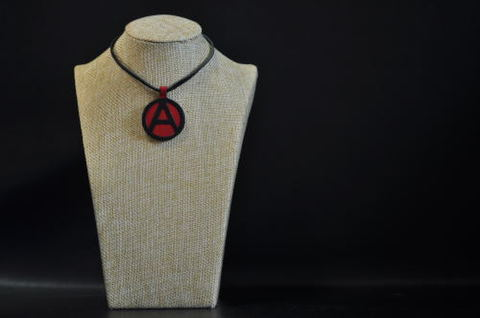 (A) Symbol Necklace Red