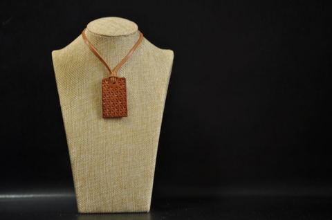 Asanoha(麻の葉文様) Necklace Camel