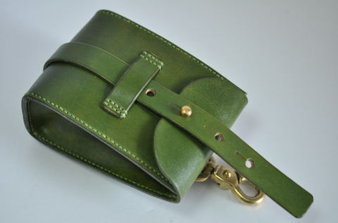Green leather Chaos pouch グリーンレザーカオスポーチ