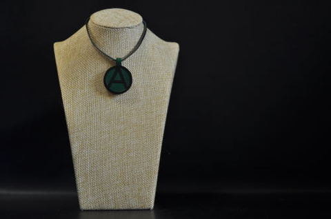 (A) Symbol Necklace Green