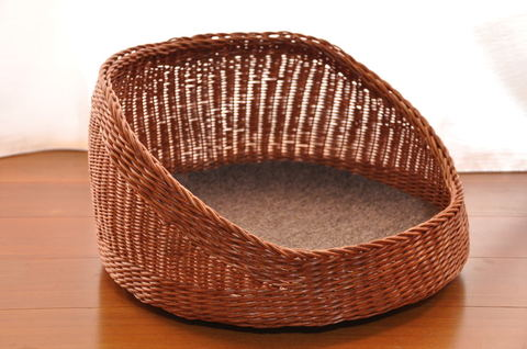 柿渋籐 猫籠 Chill basket