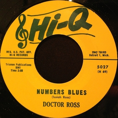 "DOCTOR ROSS / NUMBER BLUES (7"")"
