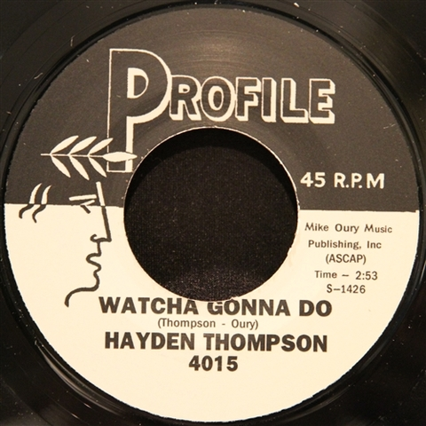 "HAYDEN THOMPSON / WATCHA GONNA DO (7"")"