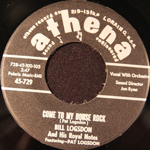 "BILL LOGSDON / COME TO MY HOUSE ROCK (7"")"
