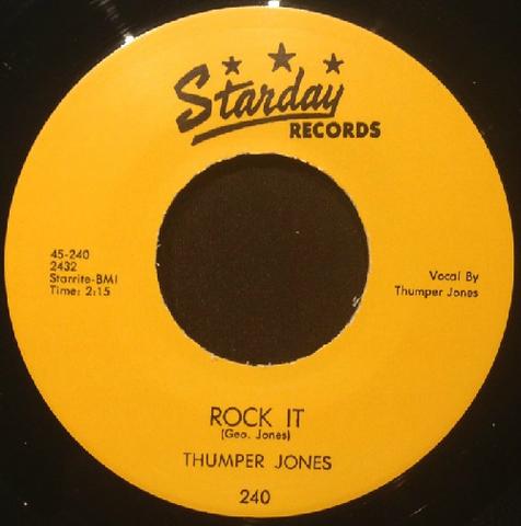 """THUMPER JONES / ROCK IT (7"""")"""