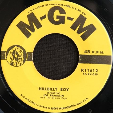 "JOE FRANKLIN / HILLBILLY BOY (7"")"