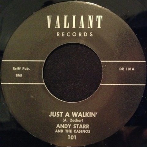 "ANDY STARR / JUST WALKIN' (7"")"