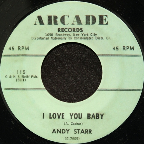 "ANDY STARR / I LOVE YOU BABY (7"")"