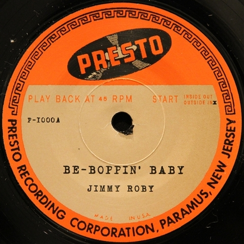 """JIMMY ROBY / BE-BOPPIN' BABY (7"""")"""