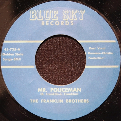 "FRANKLIN BROTHERS / MR.POLICEMAN (7"")"