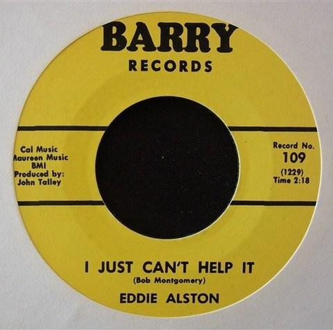 """EDDIE ALSTON / I JUST CAN'T HELP IT (7"""")"""
