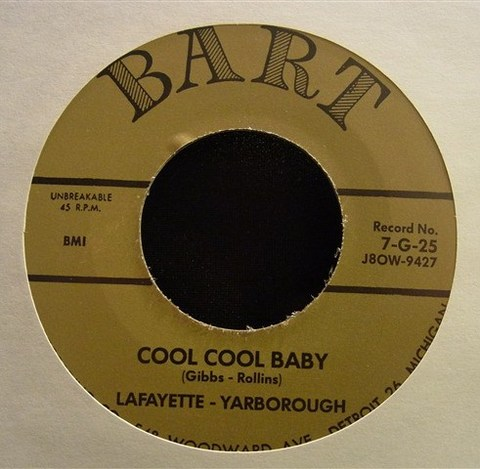 "LAFAYETTE YARBOROUGH / COOL COOL BABY (7"")"