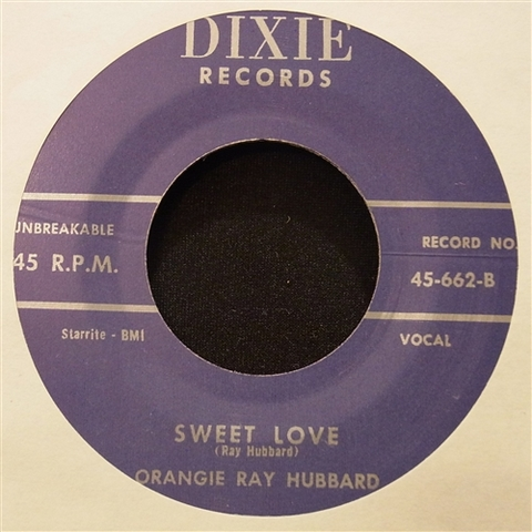 "ORANGIE RAY HUBBARD / SWEET LOVE (7"")"