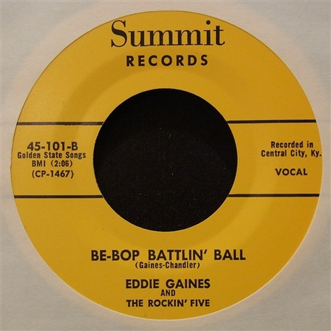 "EDDIE GAINES / BE-BOP BATTLIN' BALL (7"")"