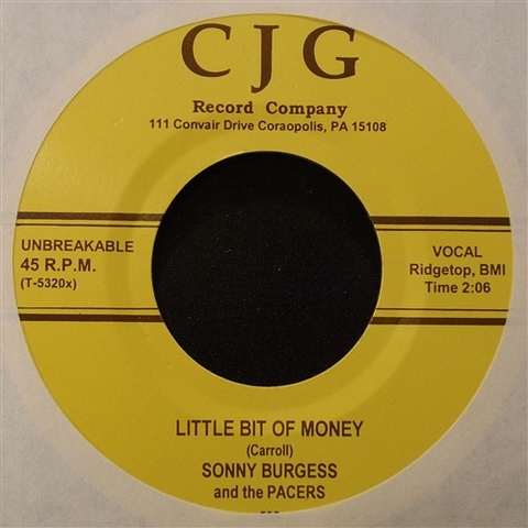 "SONNY BURGESS / LITTLE BIT OF MONEY (7"")"