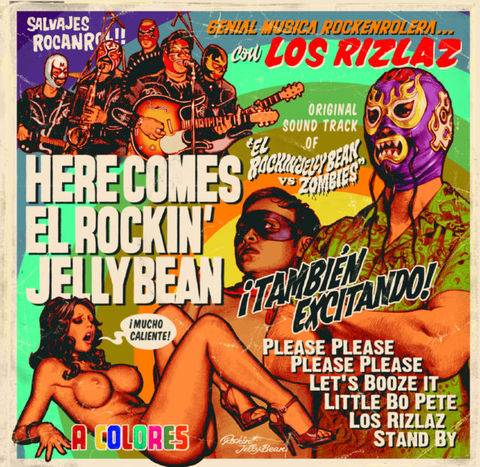 LOS RIZLAZ / HERE COMES EL ROCKIN'JELLY BEAN (CD)