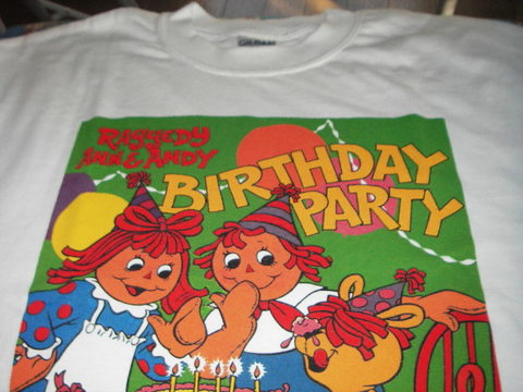 ANN&ANDY BIRTHDAY PARTY Tシャツ