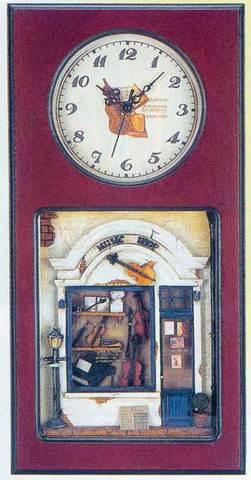 インテリアフレーム 壁掛け時計 ミュージックショップ