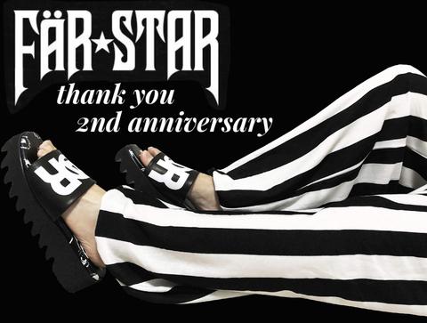 2周年記念 百目ロゴ シャークソールサンダル