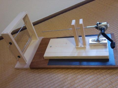 手作り糸紡ぎ機