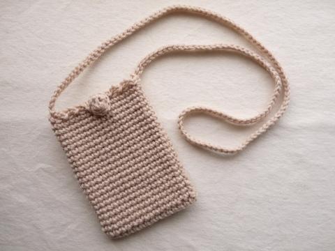 【Madre】mini pochette(pink beige)