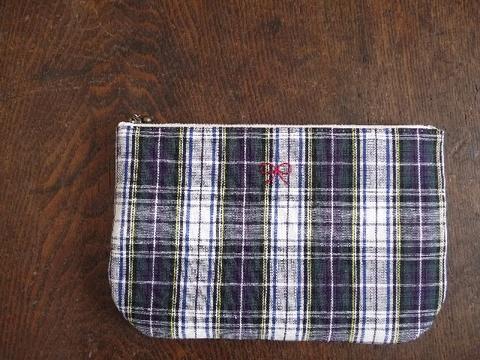 【Fioretto】tartan pouch L