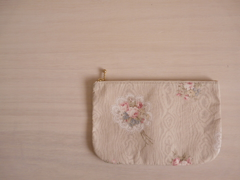 【Fioretto】rose pouch L(light green)