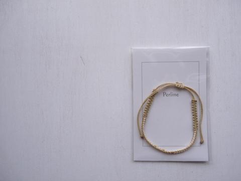 【Perline】beads bracelet <beige>