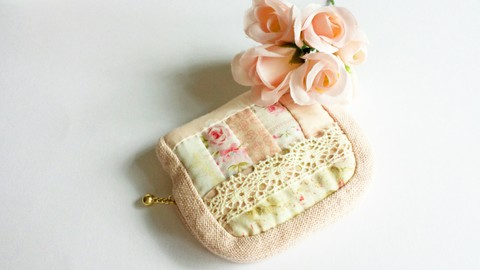 【Madre】patchwork mini pouch s(C)