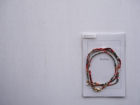 【Perline】Liberty bracelet <red>