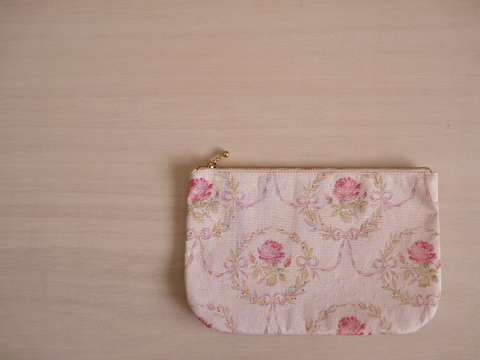 【Fioretto】rose pouch L(light pink)