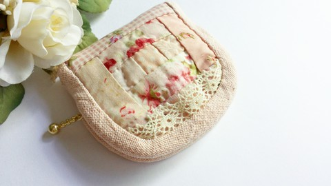 【Madre】patchwork mini pouch s(B)