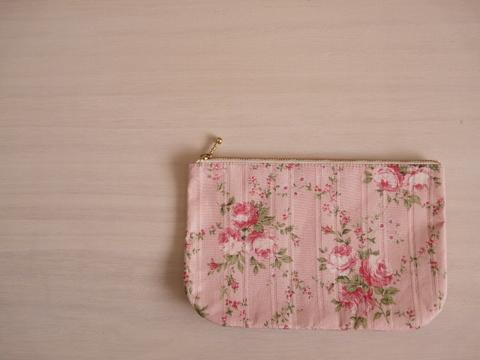 【Fioretto】rose pouch L(pink)