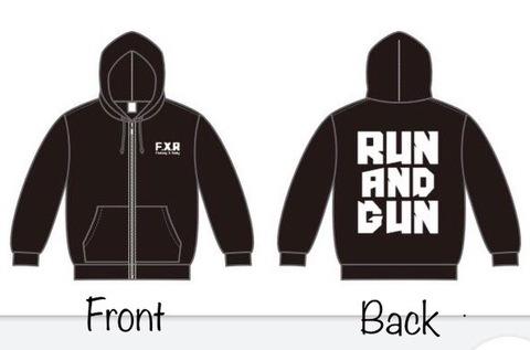 【予約受付中】F.X.R RUN AND GUN パーカー B/W