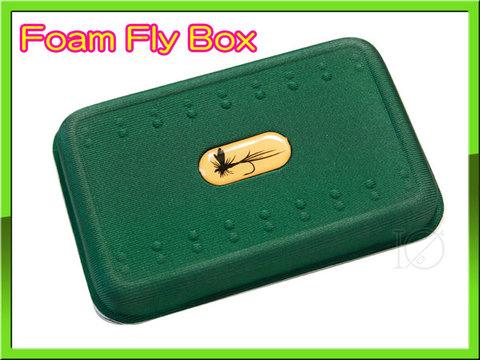 フライボックス FLY BOX 軽量フライケース グリーン&ホワイト フライ収納用ケース