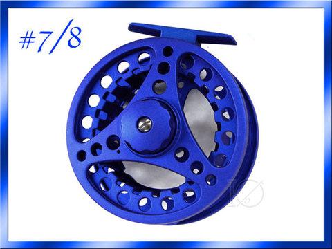 フライリール #7/8 ダイキャスト ブルー 青 Fly Reel フライフィッシング用