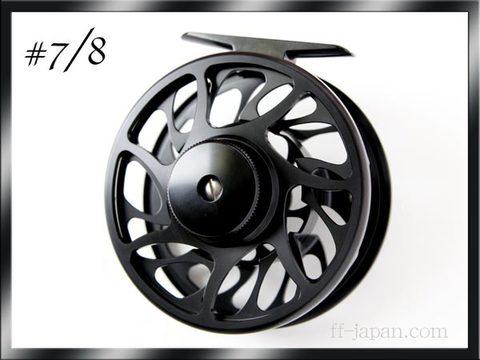 フライリール #7/8 マシンカット強力ディスクドラグ 黒