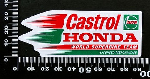 カストロール CASTROL ホンダ HONDA ステッカー 00256